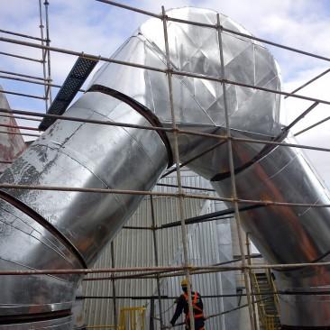 Çimento Sanayi Sıcak Gaz Hattı